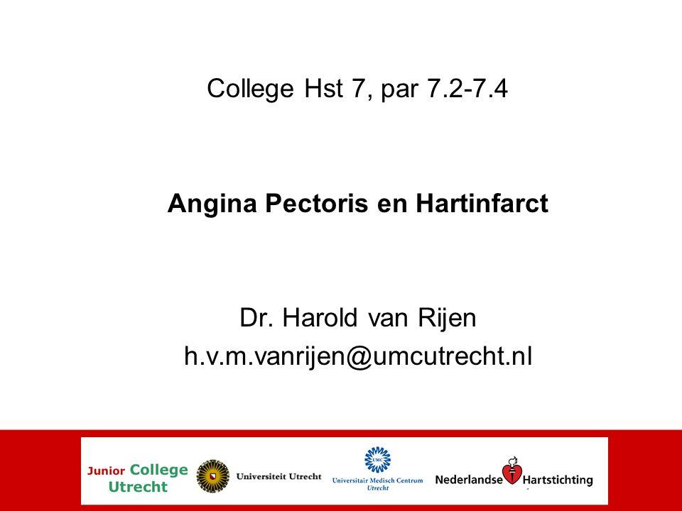 Angina Pectoris en Hartinfarct