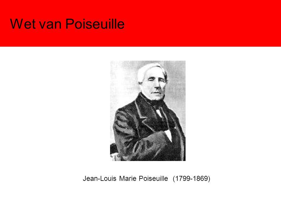 Wet van Poiseuille Jean-Louis Marie Poiseuille (1799-1869)
