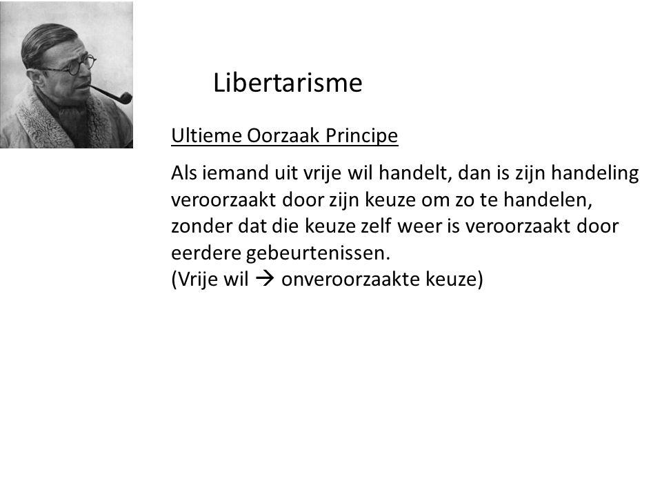 Libertarisme Ultieme Oorzaak Principe