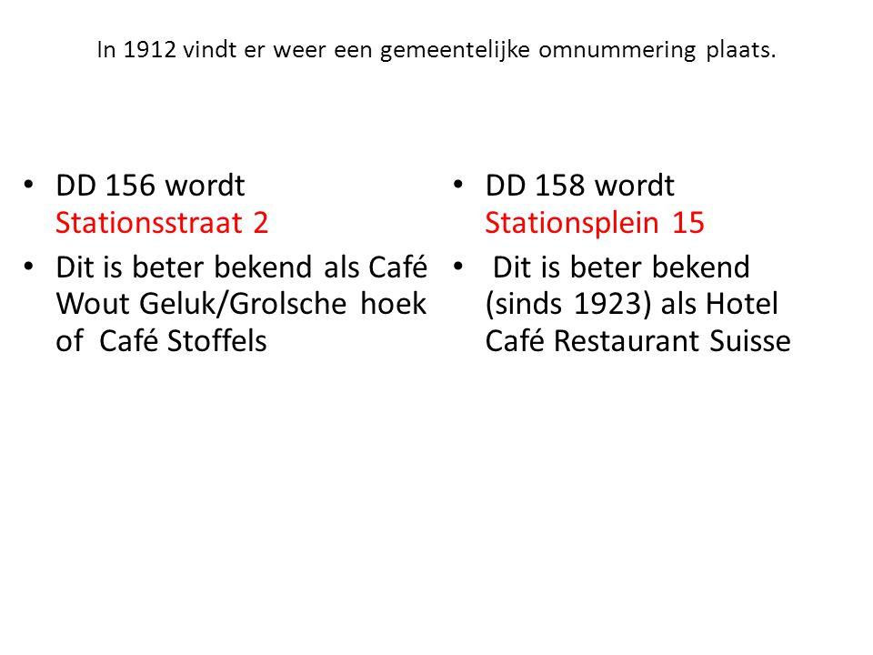 In 1912 vindt er weer een gemeentelijke omnummering plaats.