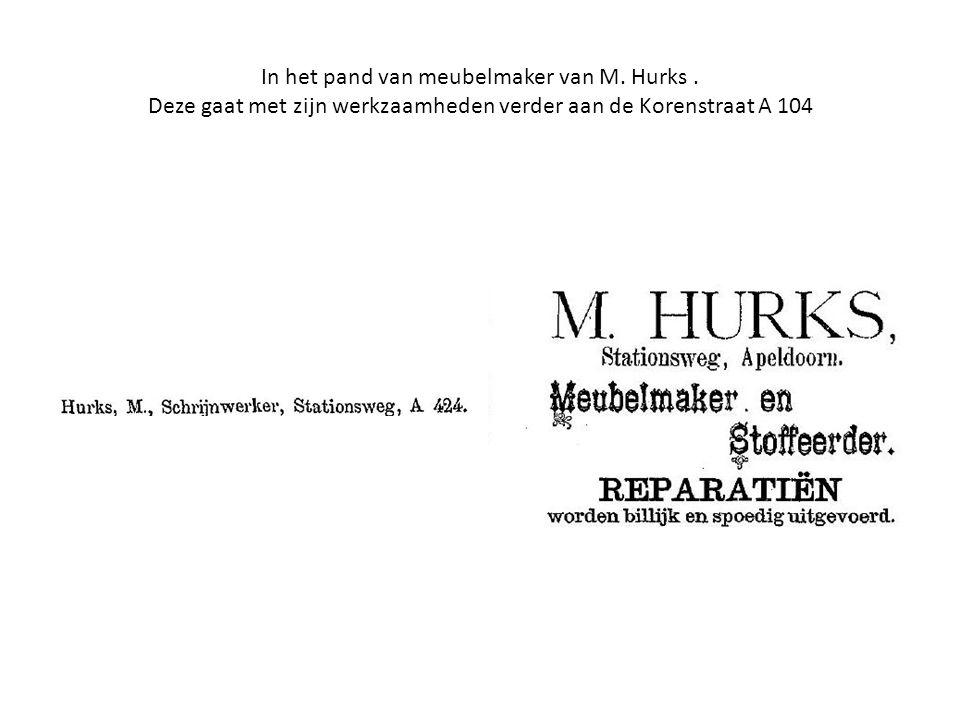 In het pand van meubelmaker van M. Hurks