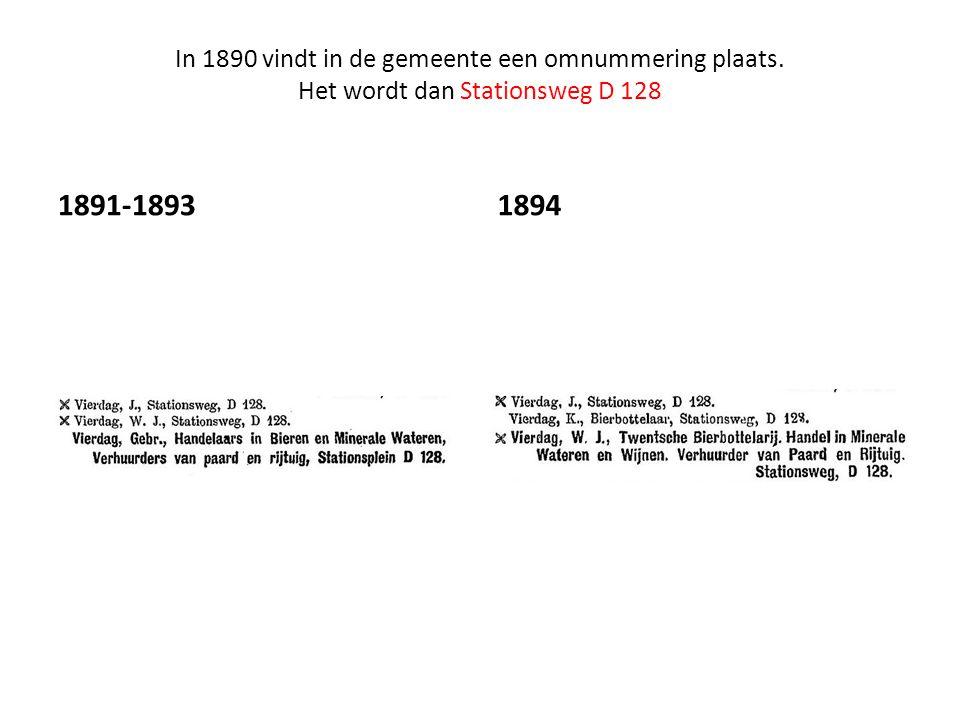 In 1890 vindt in de gemeente een omnummering plaats