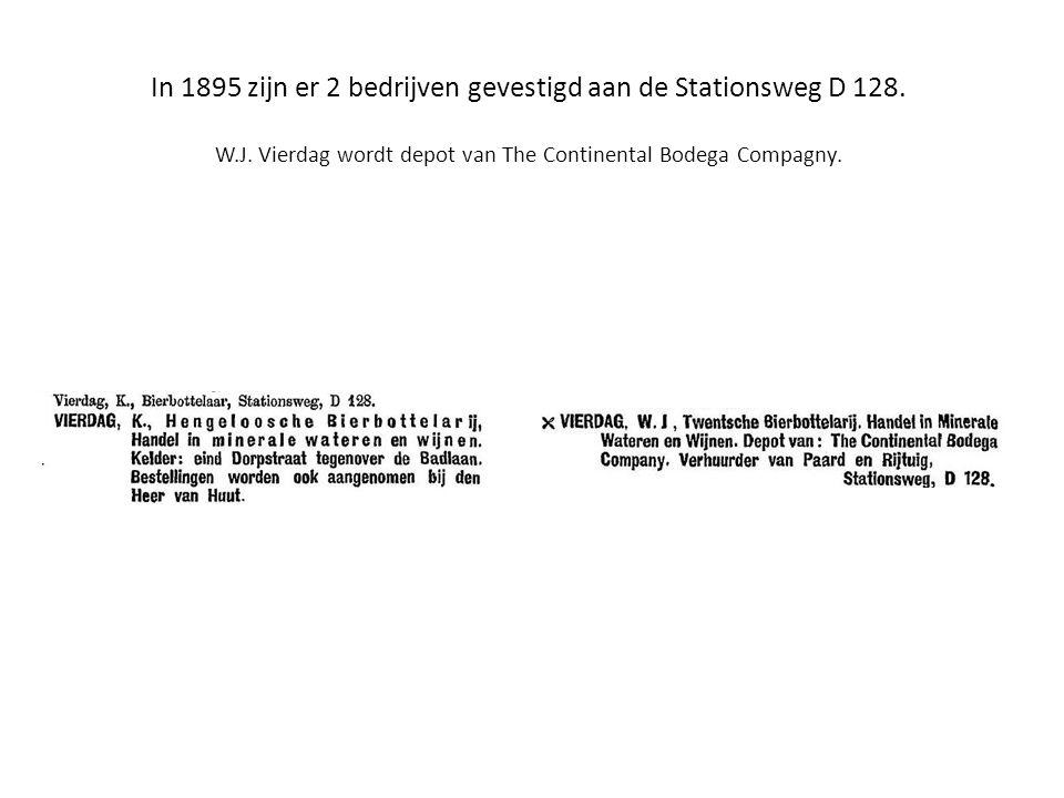 In 1895 zijn er 2 bedrijven gevestigd aan de Stationsweg D 128. W. J