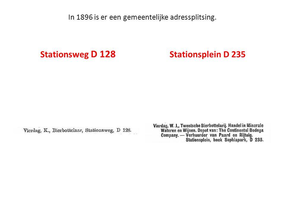 In 1896 is er een gemeentelijke adressplitsing.