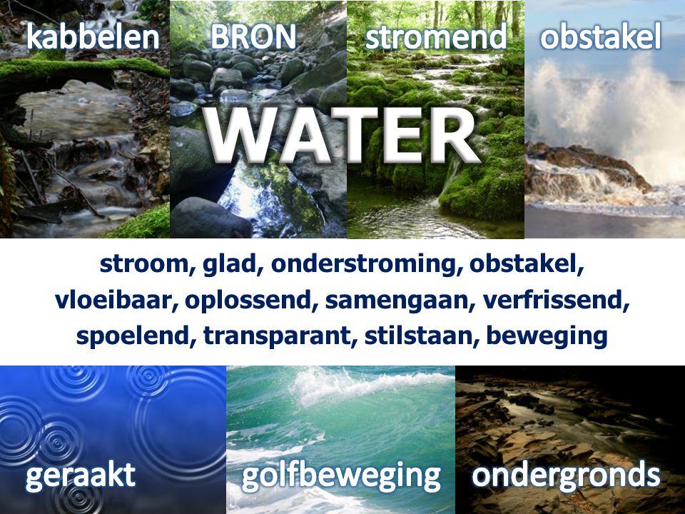 WATER kabbelen BRON stromend obstakel geraakt golfbeweging ondergronds