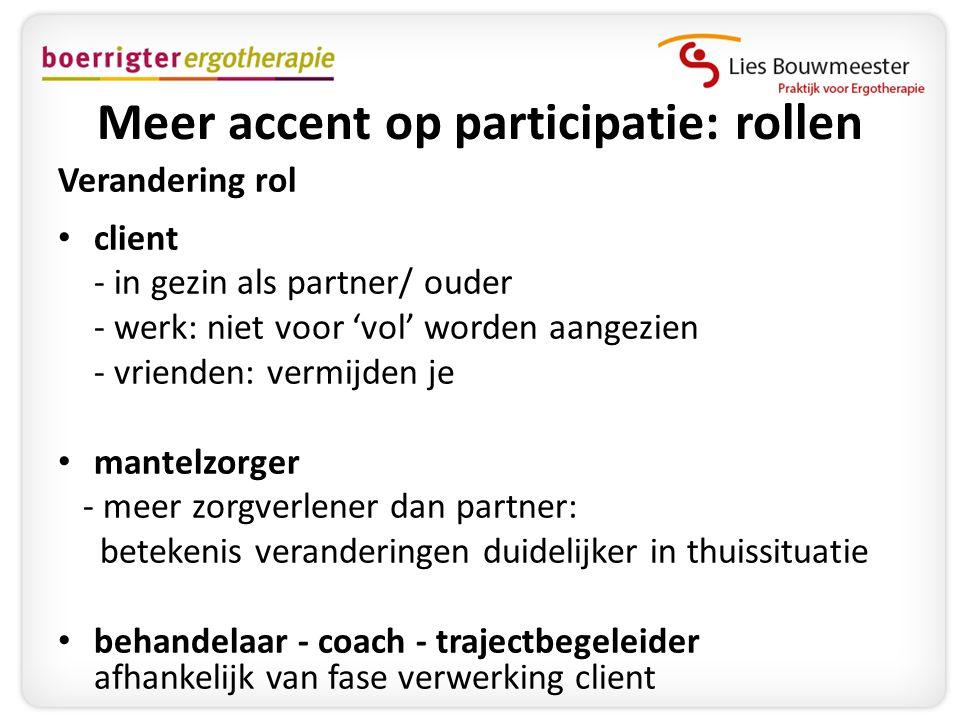 Meer accent op participatie: rollen