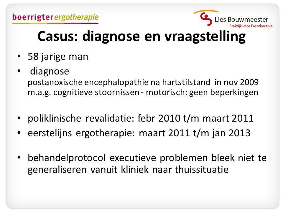 Casus: diagnose en vraagstelling