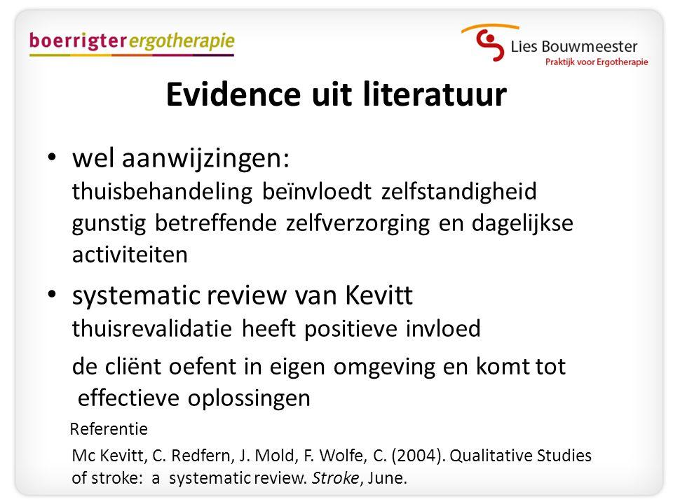 Evidence uit literatuur