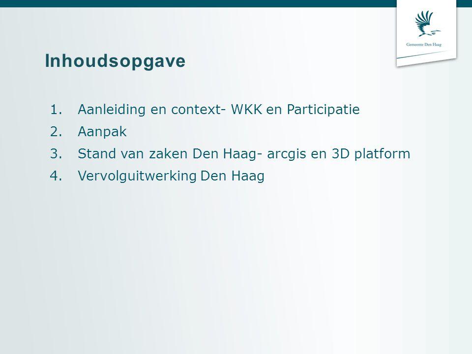 Inhoudsopgave Aanleiding en context- WKK en Participatie Aanpak