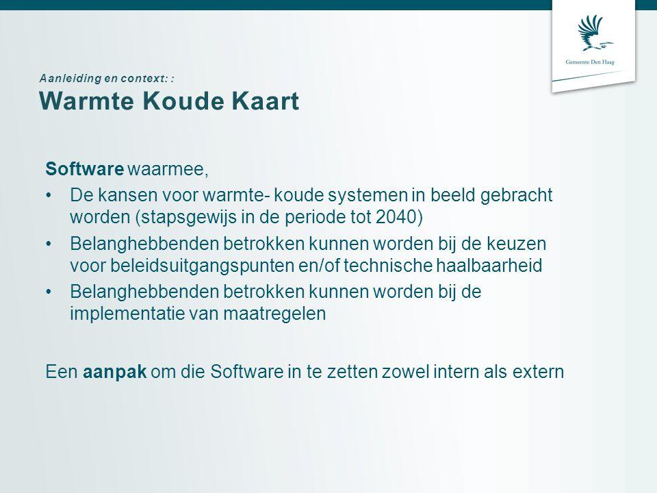Warmte Koude Kaart Software waarmee,