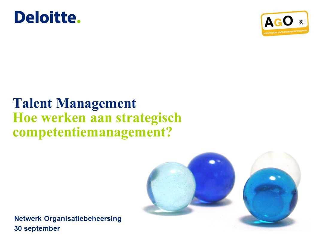 Talent Management Hoe werken aan strategisch competentiemanagement