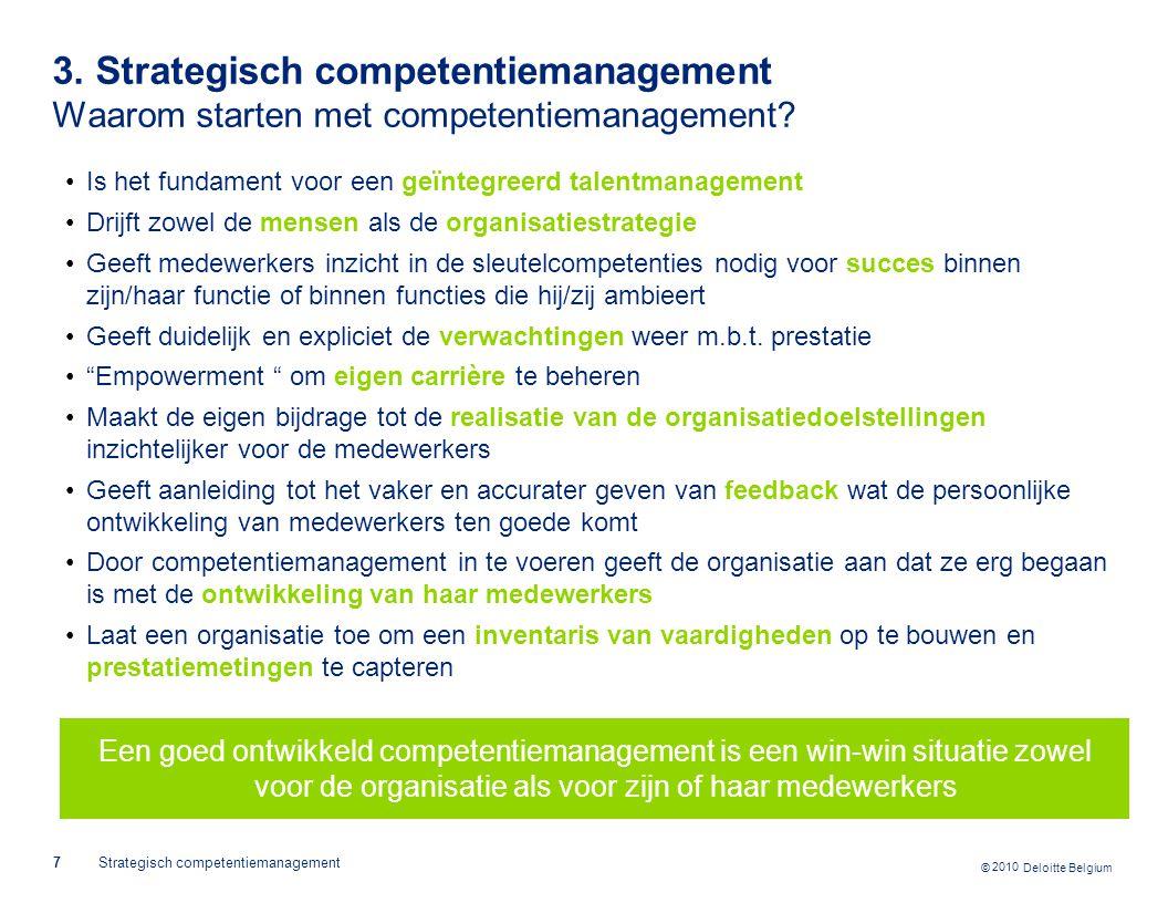 3. Strategisch competentiemanagement Waarom starten met competentiemanagement