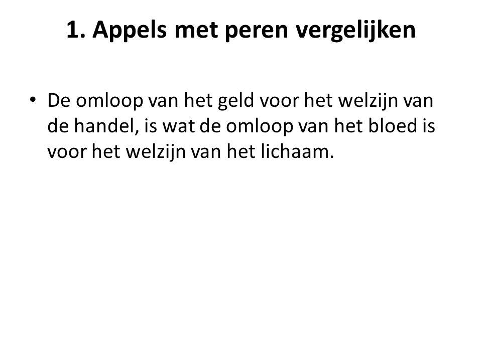 1. Appels met peren vergelijken