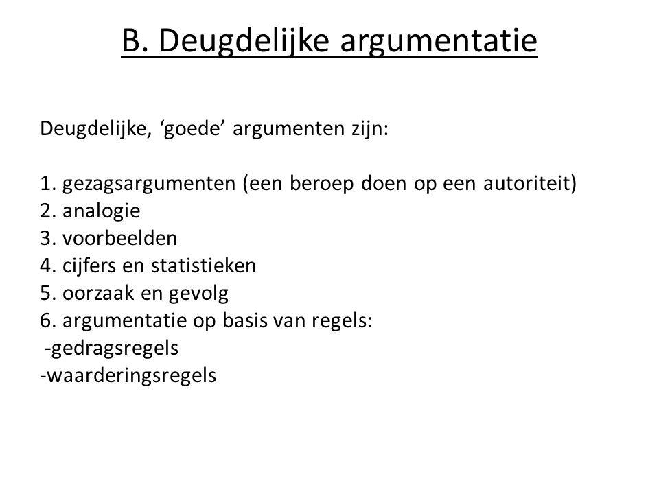 B. Deugdelijke argumentatie