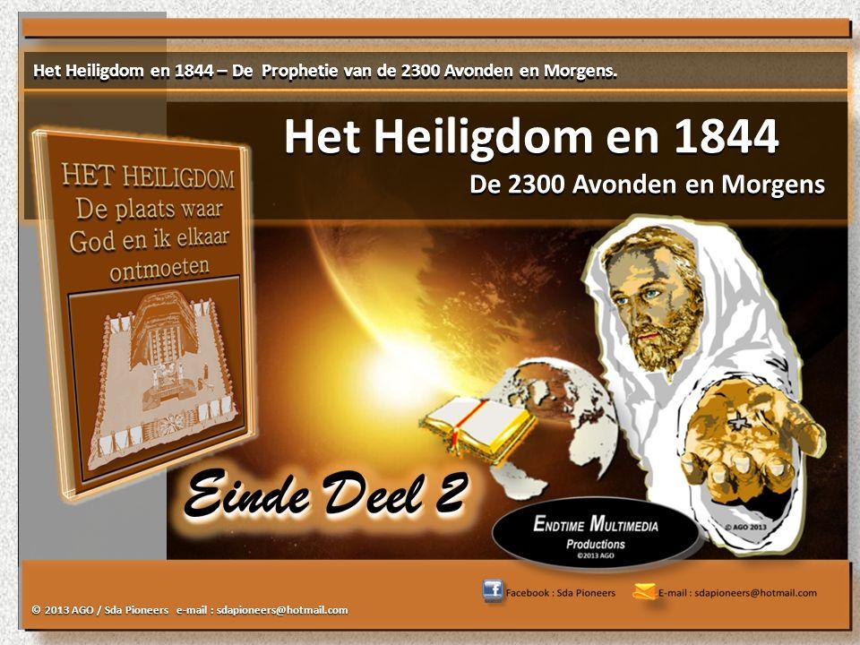 Het Heiligdom en 1844 De 2300 Avonden en Morgens