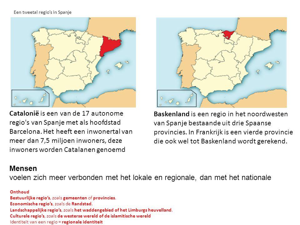 Een tweetal regio's in Spanje