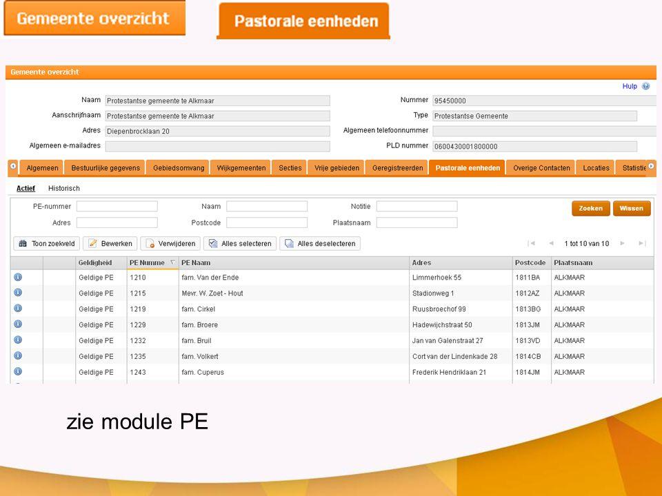 zie module PE