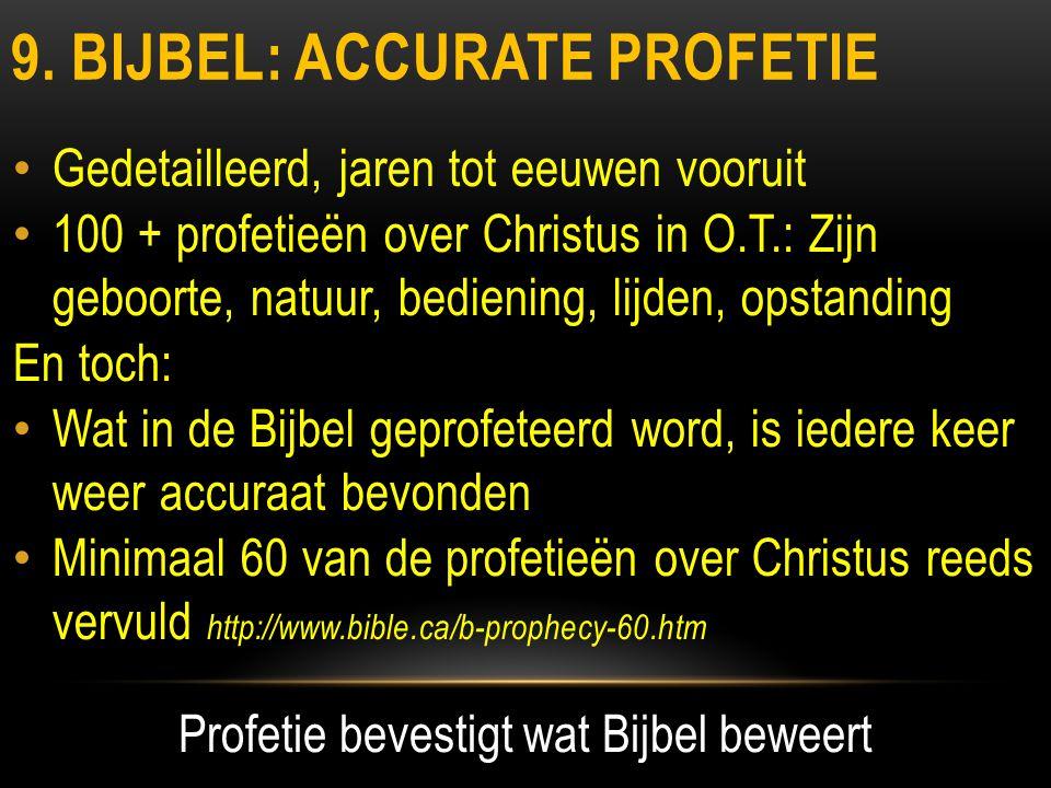 9. bijbel: accurate profetie