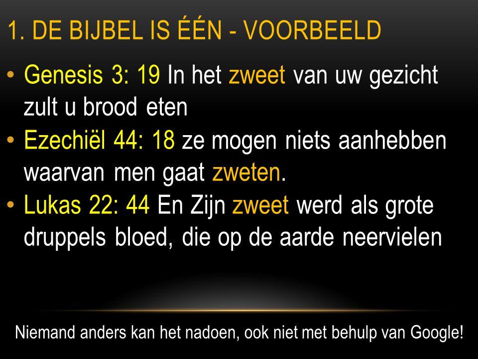 1. de bijbel is één - voorbeeld