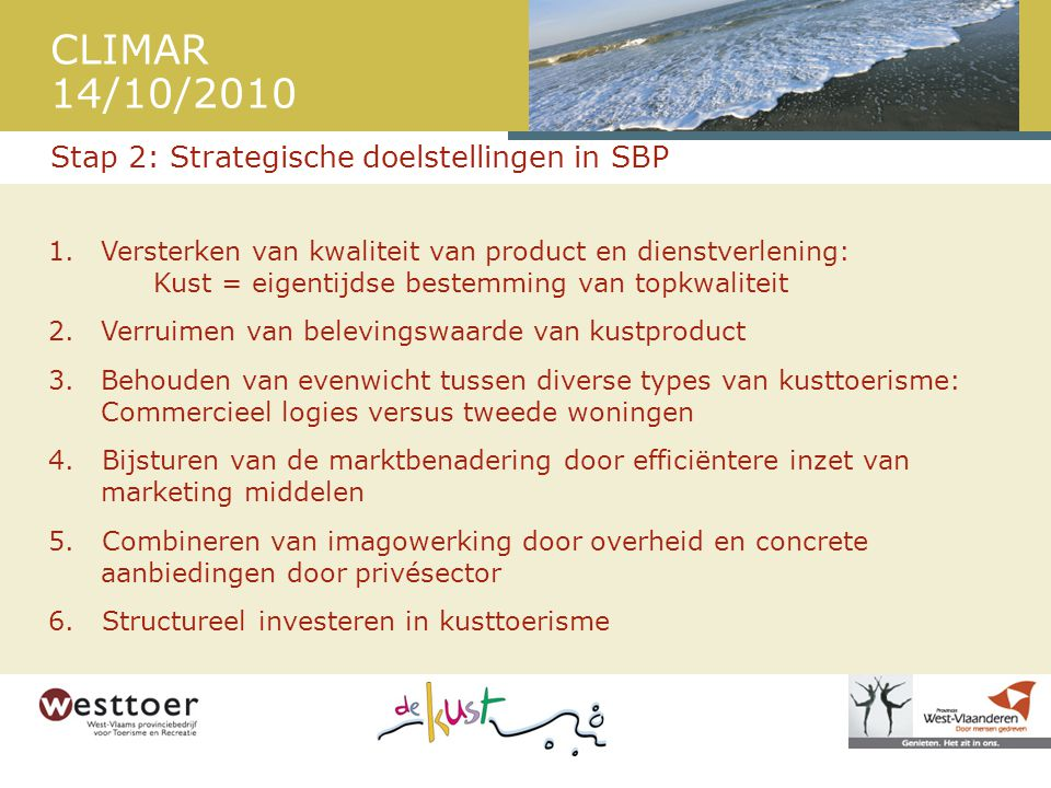 Stap 2: Strategische doelstellingen in SBP