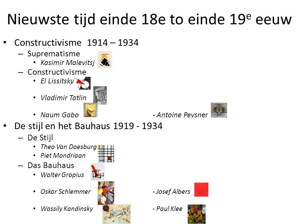 Nieuwste tijd einde 18e to einde 19e eeuw