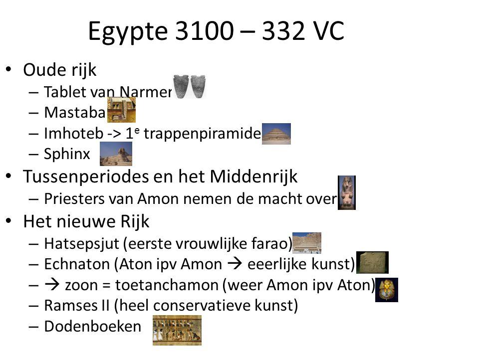 Egypte 3100 – 332 VC Oude rijk Tussenperiodes en het Middenrijk