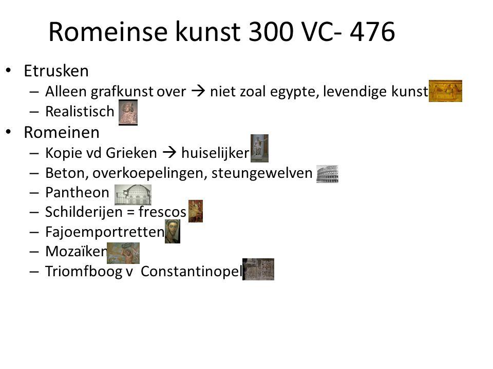 Romeinse kunst 300 VC- 476 Etrusken Romeinen