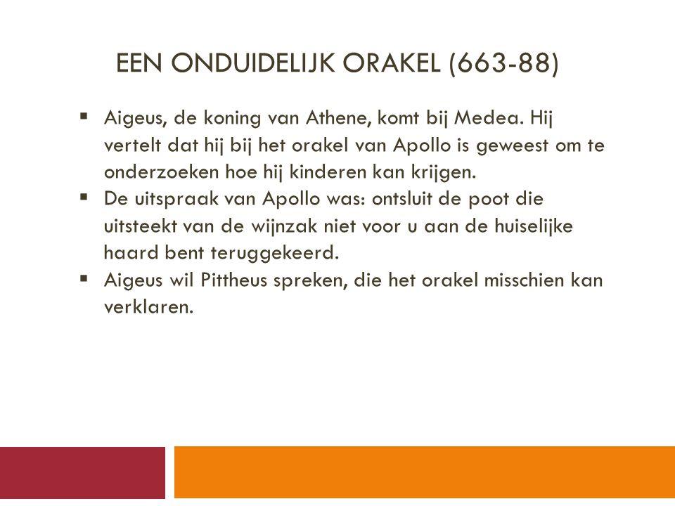 Een onduidelijk orakel (663-88)