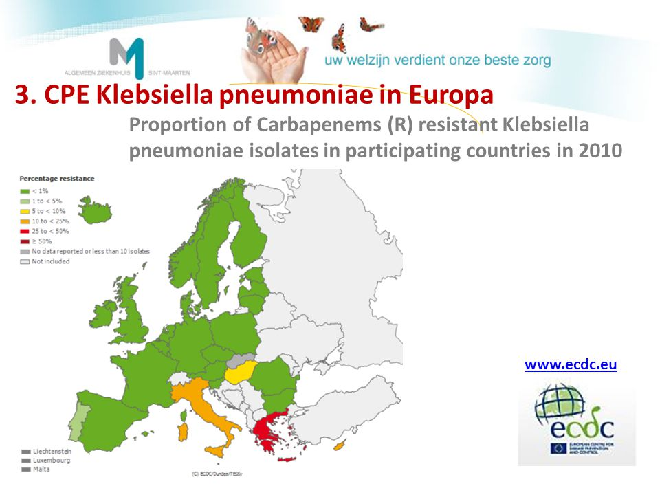 3. CPE Klebsiella pneumoniae in Europa