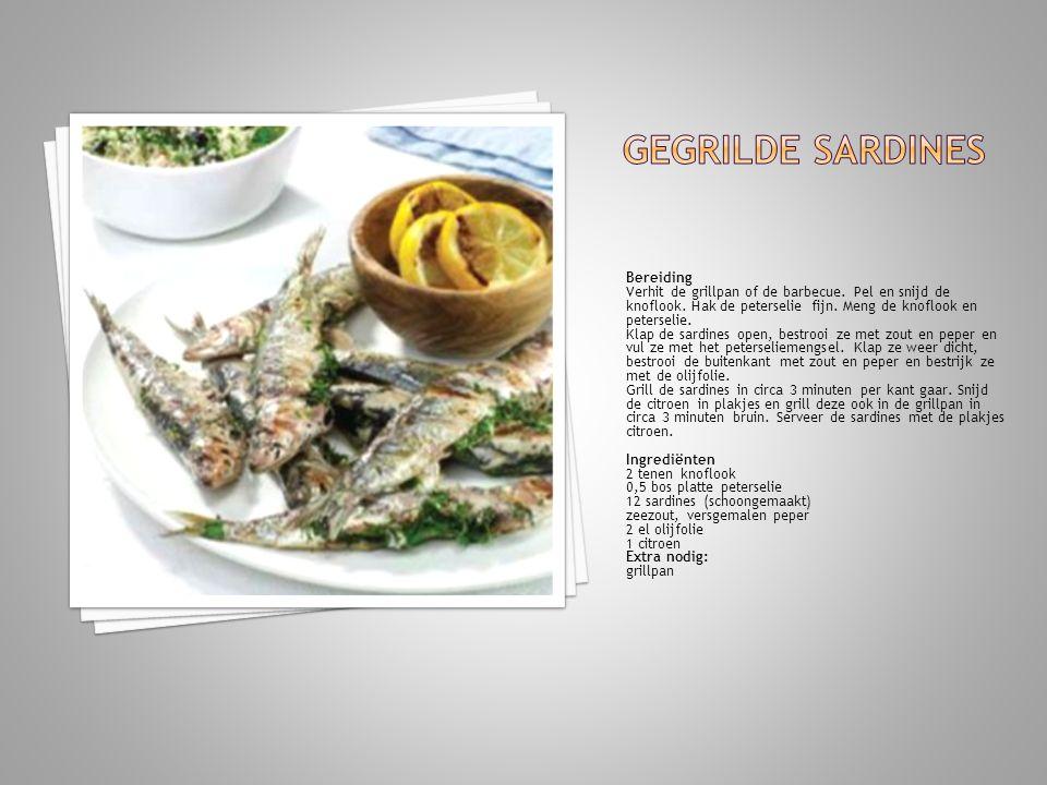 Gegrilde sardines Bereiding