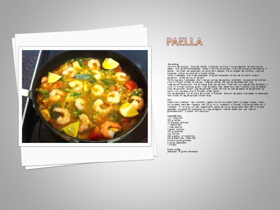 Paella Bereiding.