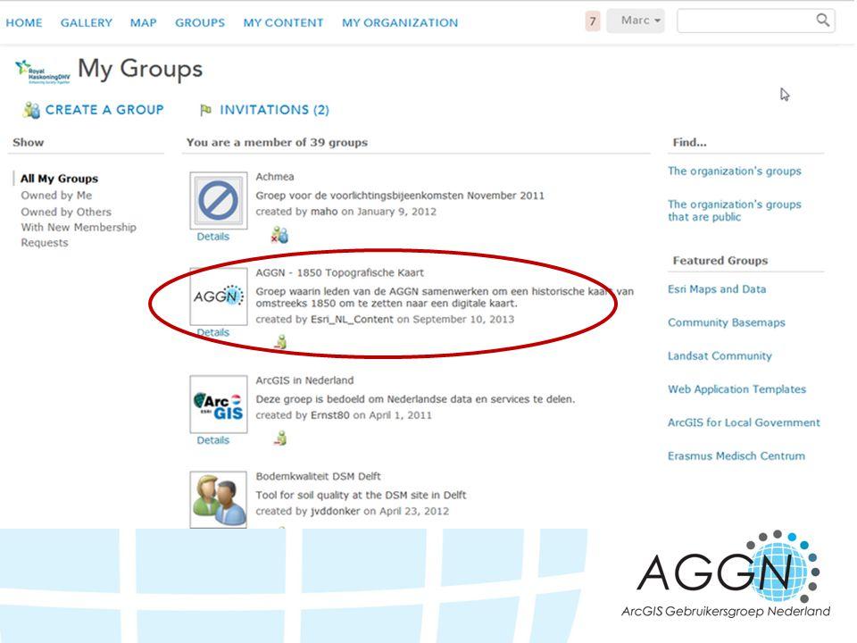 Zoek naar de AGGN 1850 Topografische kaart groep en meld je aan voor die groep