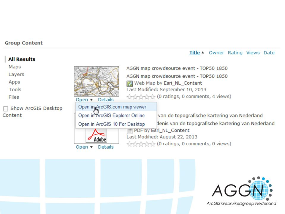 Starten met editen: Open de AGGN crowdsource event TOP50 1850 webmap