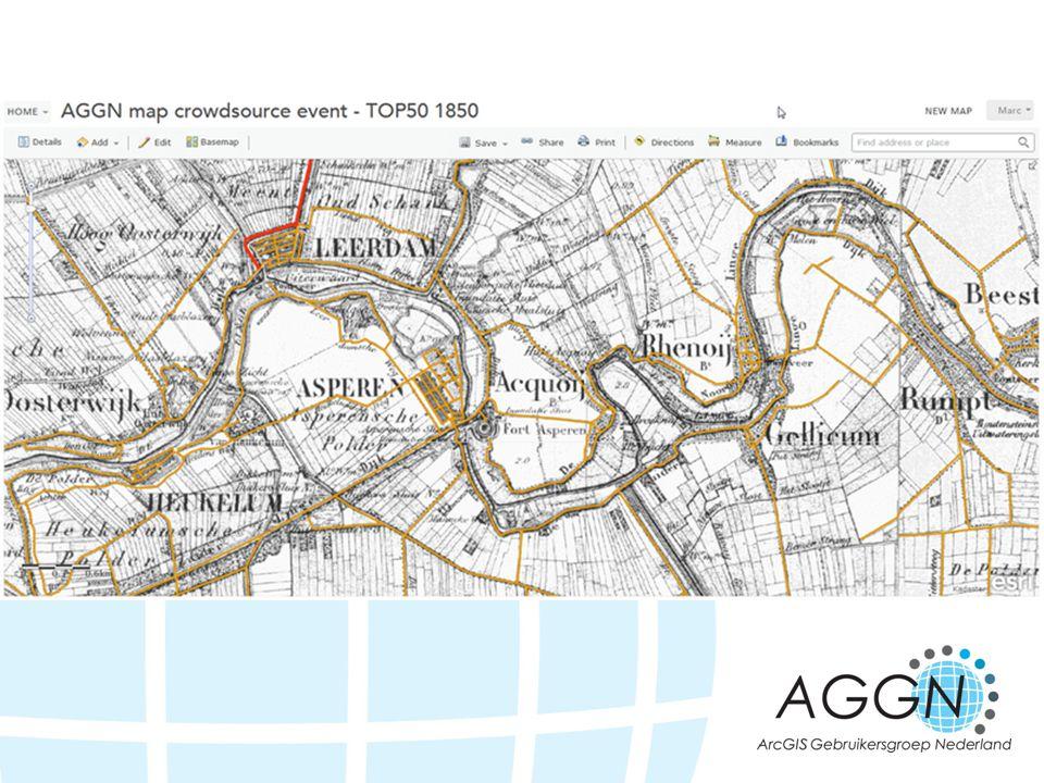 Start extent voor de webmap