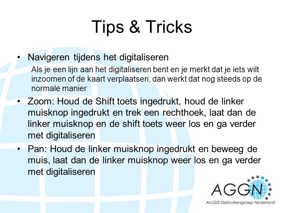 Tips & Tricks Navigeren tijdens het digitaliseren