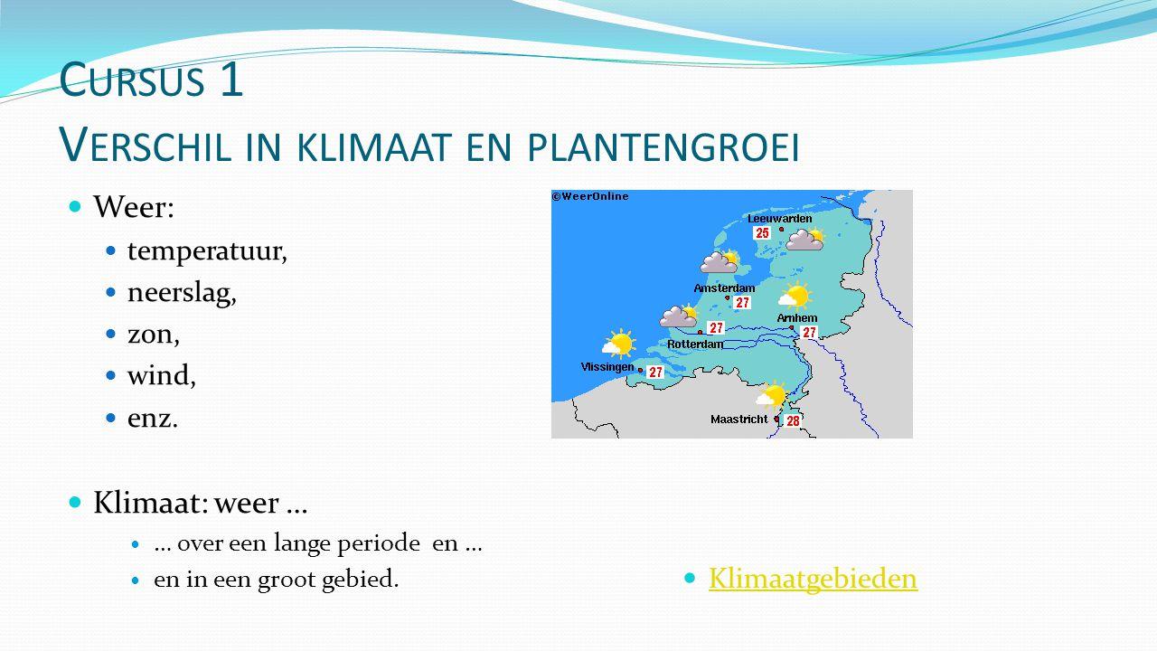 Cursus 1 Verschil in klimaat en plantengroei