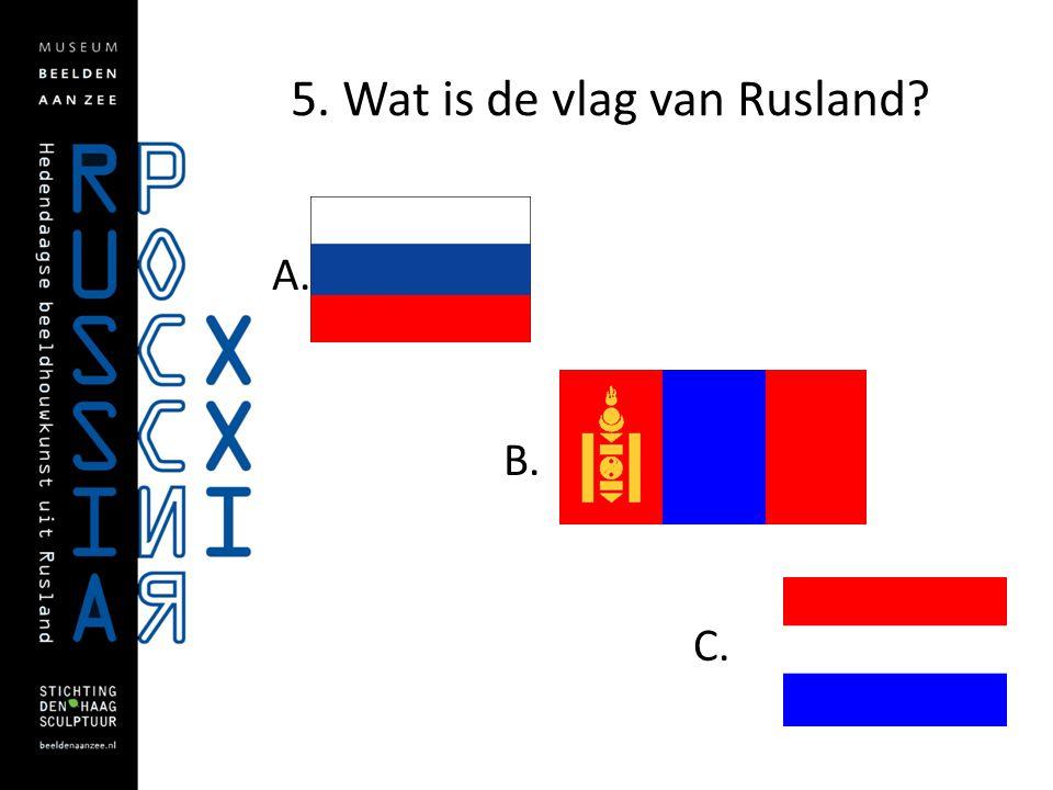 5. Wat is de vlag van Rusland