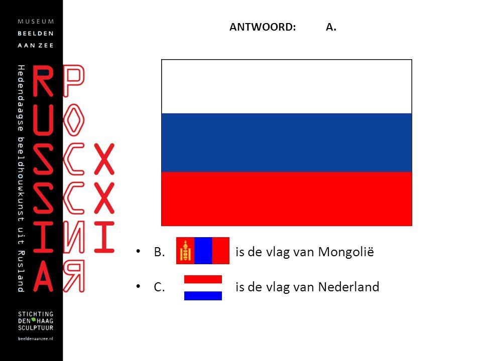 B. is de vlag van Mongolië C. is de vlag van Nederland