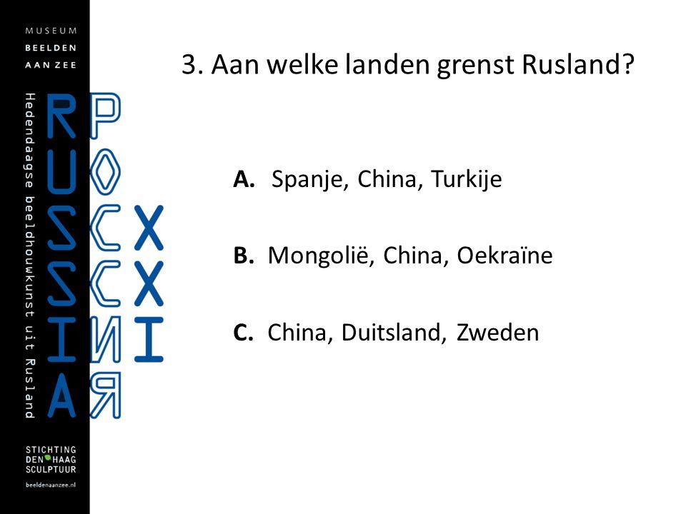 3. Aan welke landen grenst Rusland