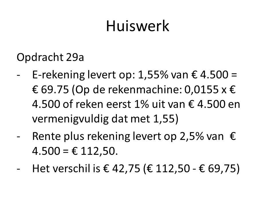 Huiswerk Opdracht 29a.