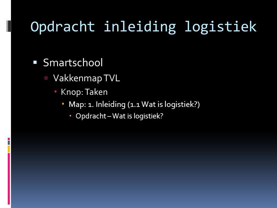 Opdracht inleiding logistiek