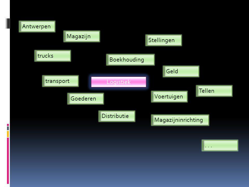 Antwerpen Magazijn. Stellingen. trucks. Boekhouding. Geld. transport. Logistiek. Tellen. Voertuigen.