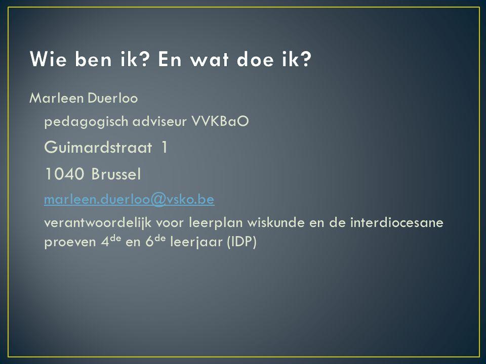 Wie ben ik En wat doe ik 1040 Brussel Marleen Duerloo