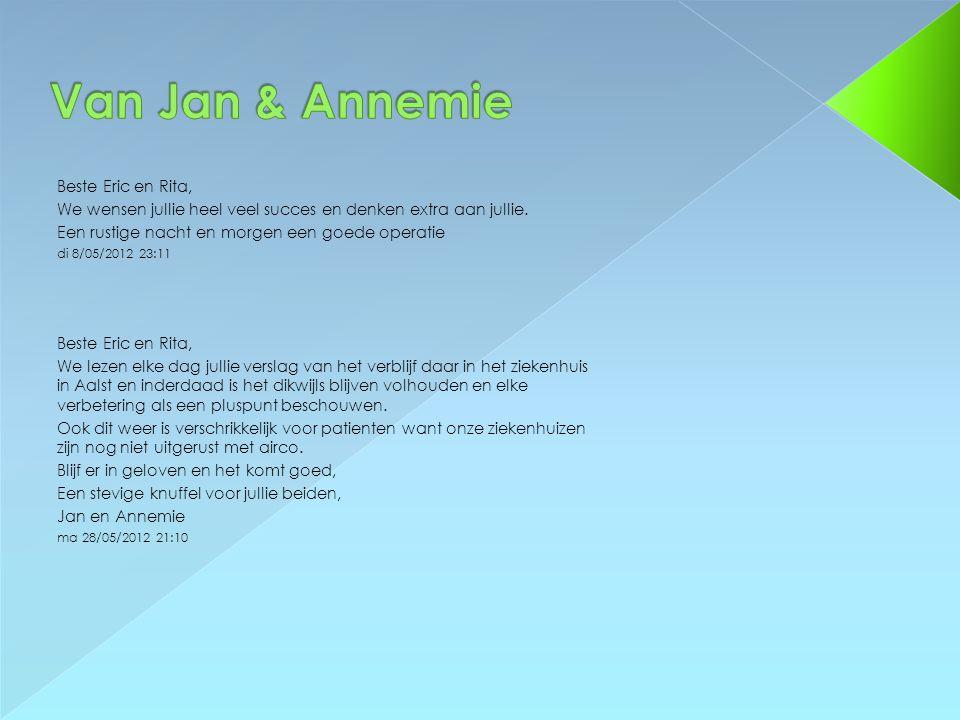 Van Jan & Annemie Beste Eric en Rita,