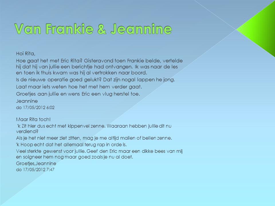 Van Frankie & Jeannine Hoi Rita,