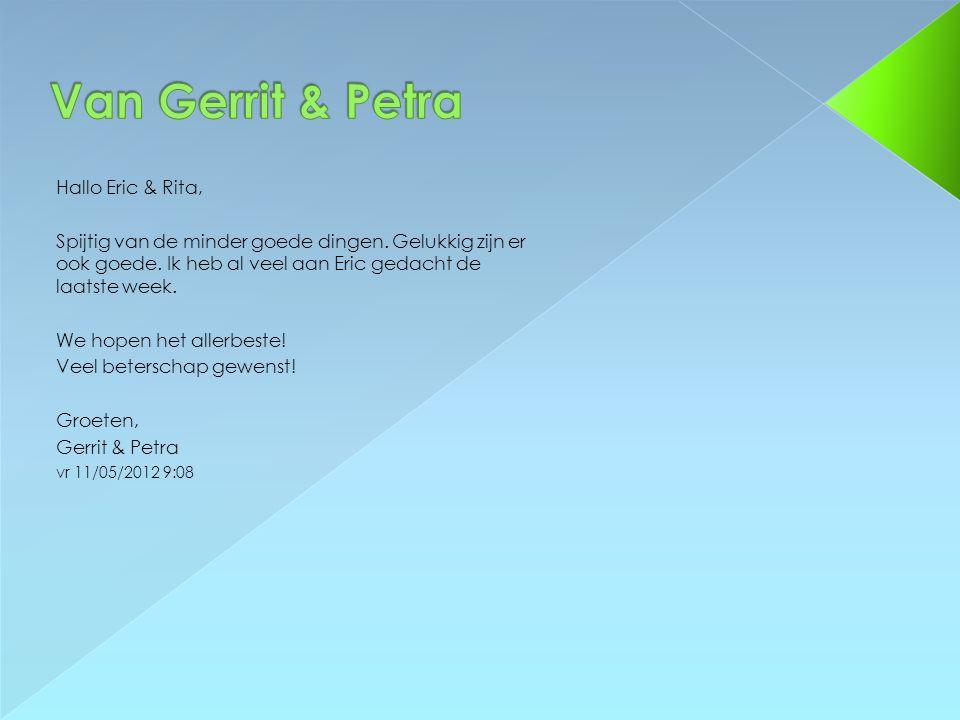 Van Gerrit & Petra Hallo Eric & Rita,