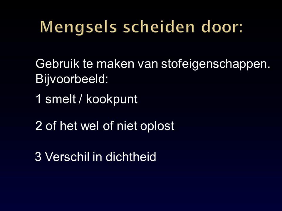 Mengsels scheiden door: