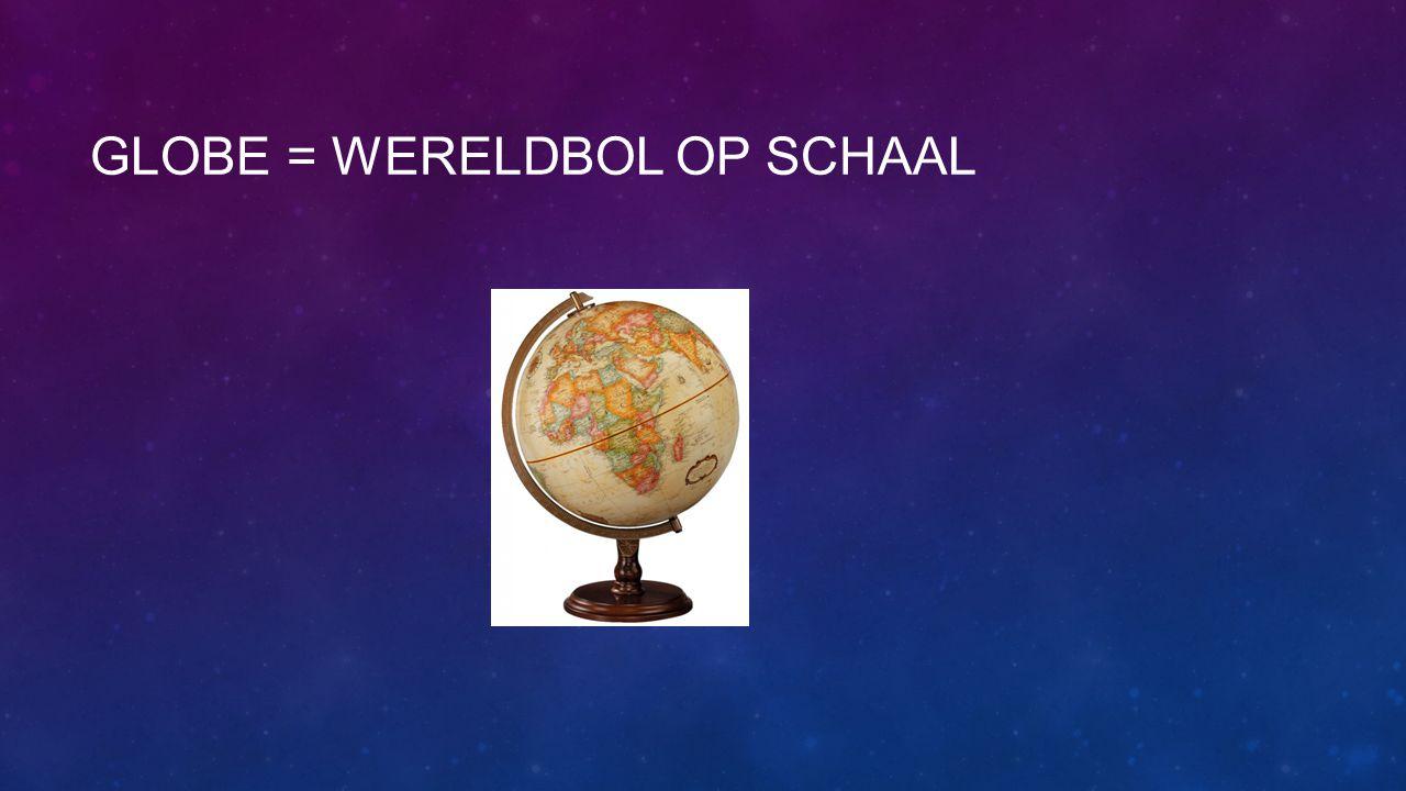 Globe = wereldbol op schaal