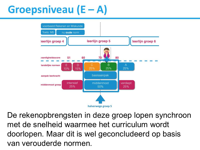 Groepsniveau (E – A)