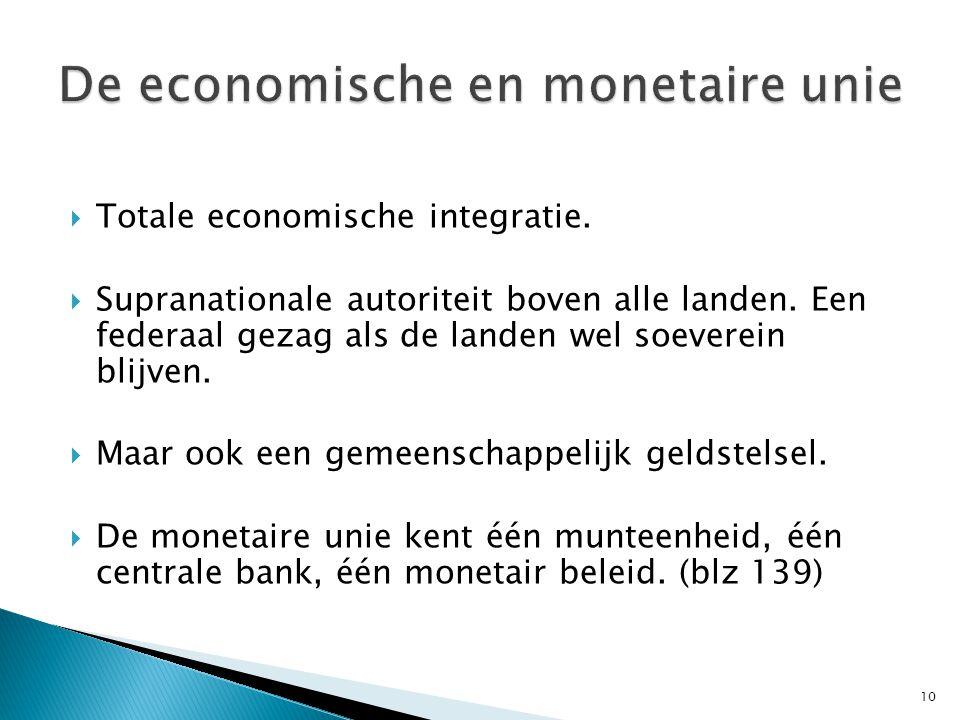 De economische en monetaire unie